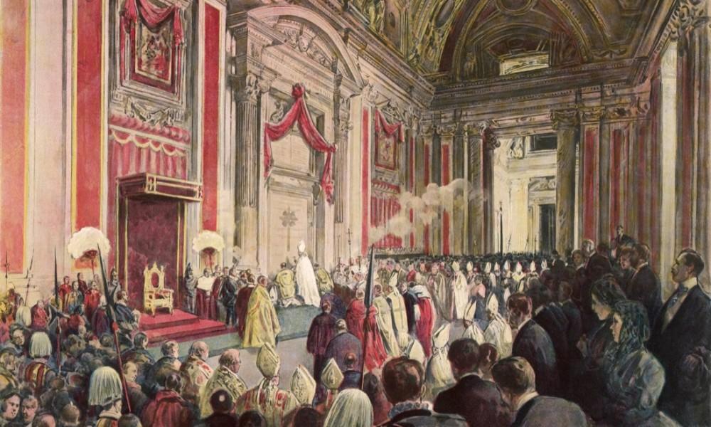 Leone XIII inaugura l'Anno Santo 1900 il 24 dicembre 1899